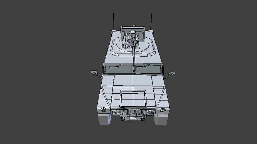 HUMVEE M242 royalty-free 3d model - Preview no. 8