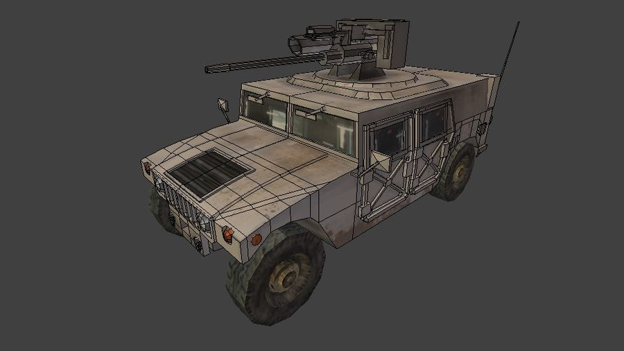 HUMVEE M242 royalty-free 3d model - Preview no. 5