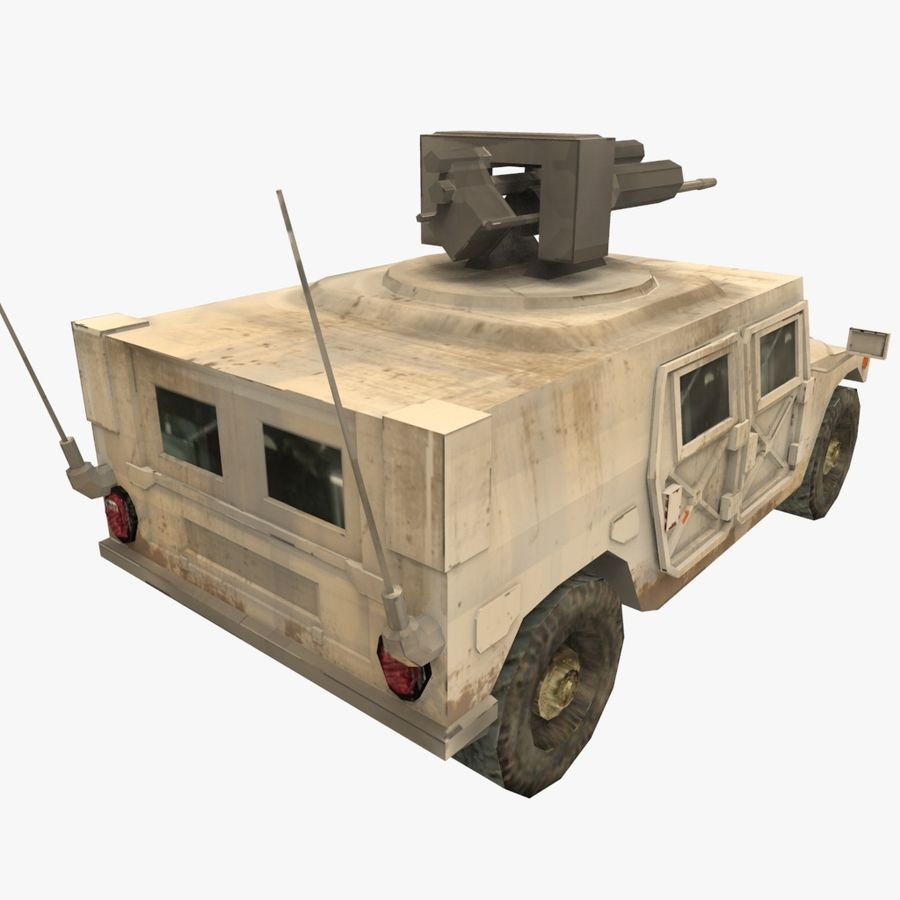 HUMVEE M242 royalty-free 3d model - Preview no. 3