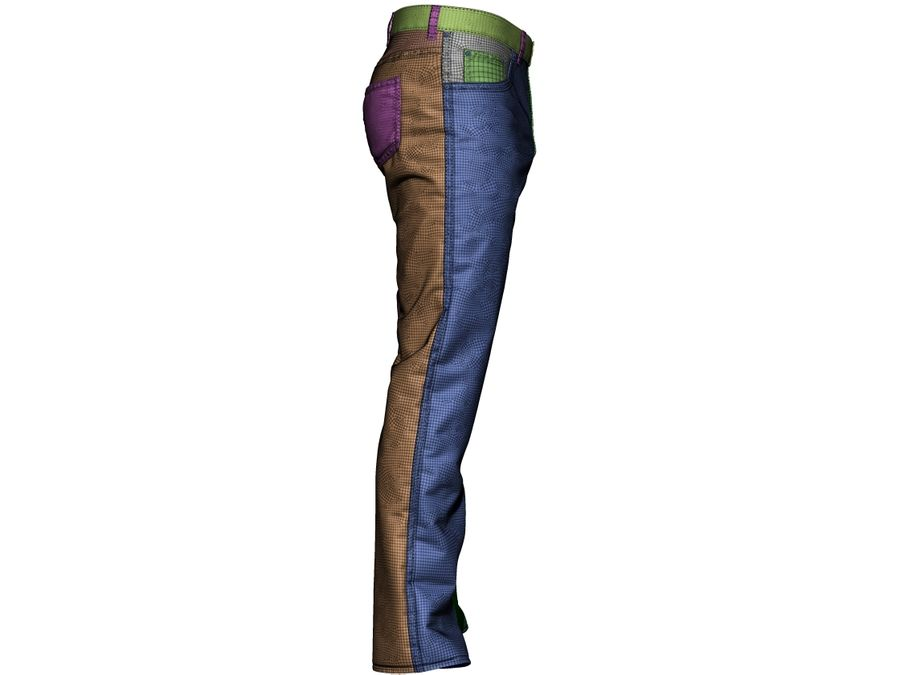 Jeans royalty-free 3d model - Preview no. 10