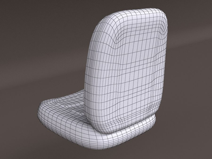 Vehicle Seat HD royalty-free 3d model - Preview no. 12