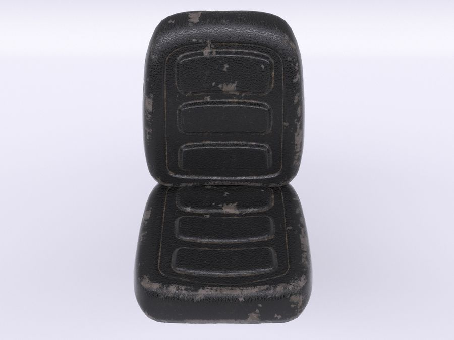 Vehicle Seat HD royalty-free 3d model - Preview no. 3