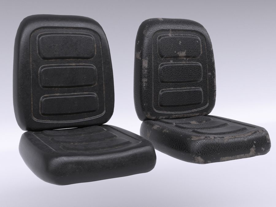 Vehicle Seat HD royalty-free 3d model - Preview no. 2
