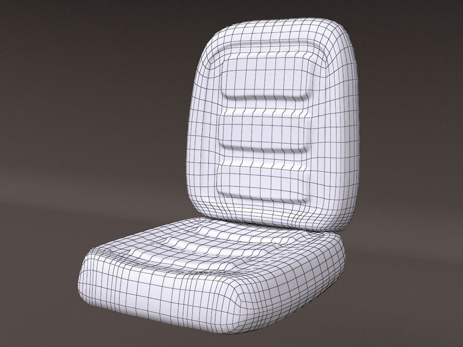 Vehicle Seat HD royalty-free 3d model - Preview no. 10