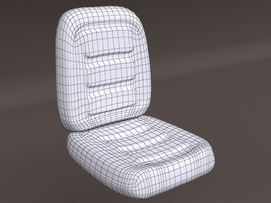 Vehicle Seat HD royalty-free 3d model - Preview no. 11