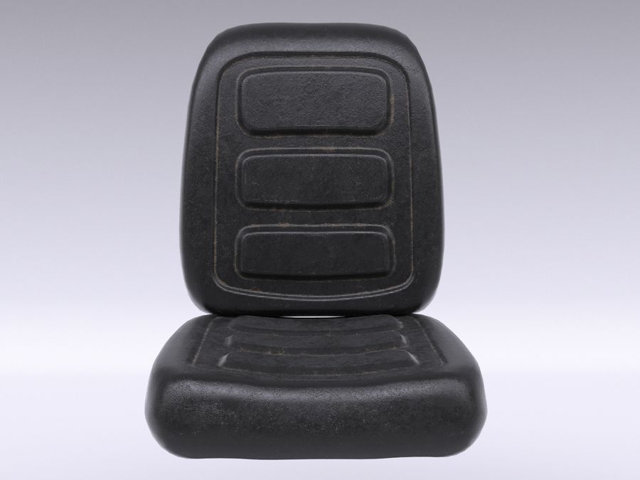 Vehicle Seat HD royalty-free 3d model - Preview no. 7