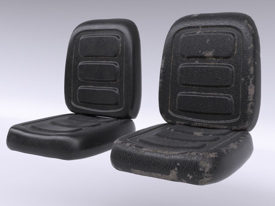 Vehicle Seat HD royalty-free 3d model - Preview no. 1