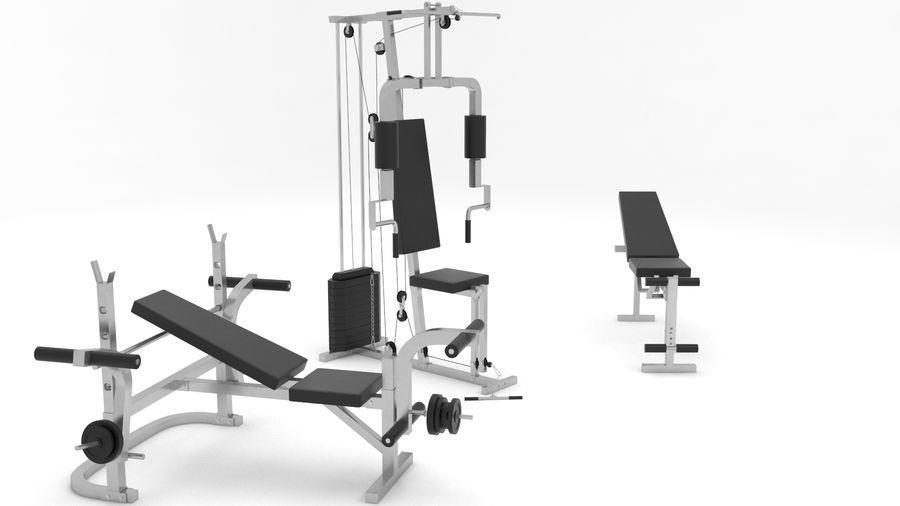 健身器材 royalty-free 3d model - Preview no. 2
