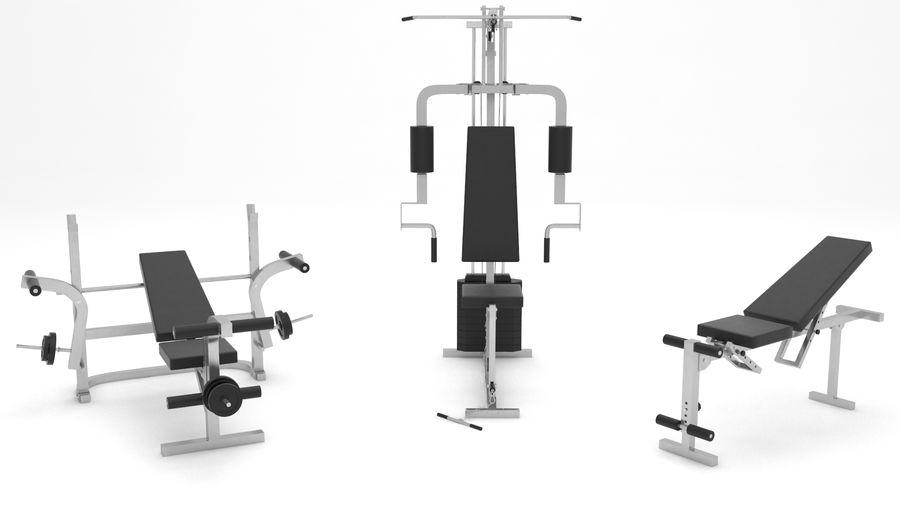 健身器材 royalty-free 3d model - Preview no. 1