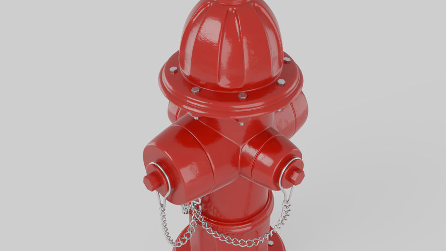 Feuerhydrant royalty-free 3d model - Preview no. 3