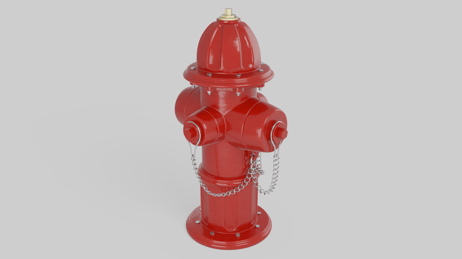 Feuerhydrant royalty-free 3d model - Preview no. 2
