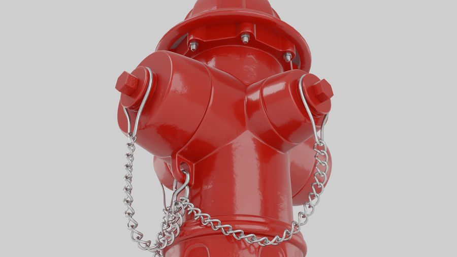 Feuerhydrant royalty-free 3d model - Preview no. 4