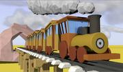 Dessin animé train 3d model