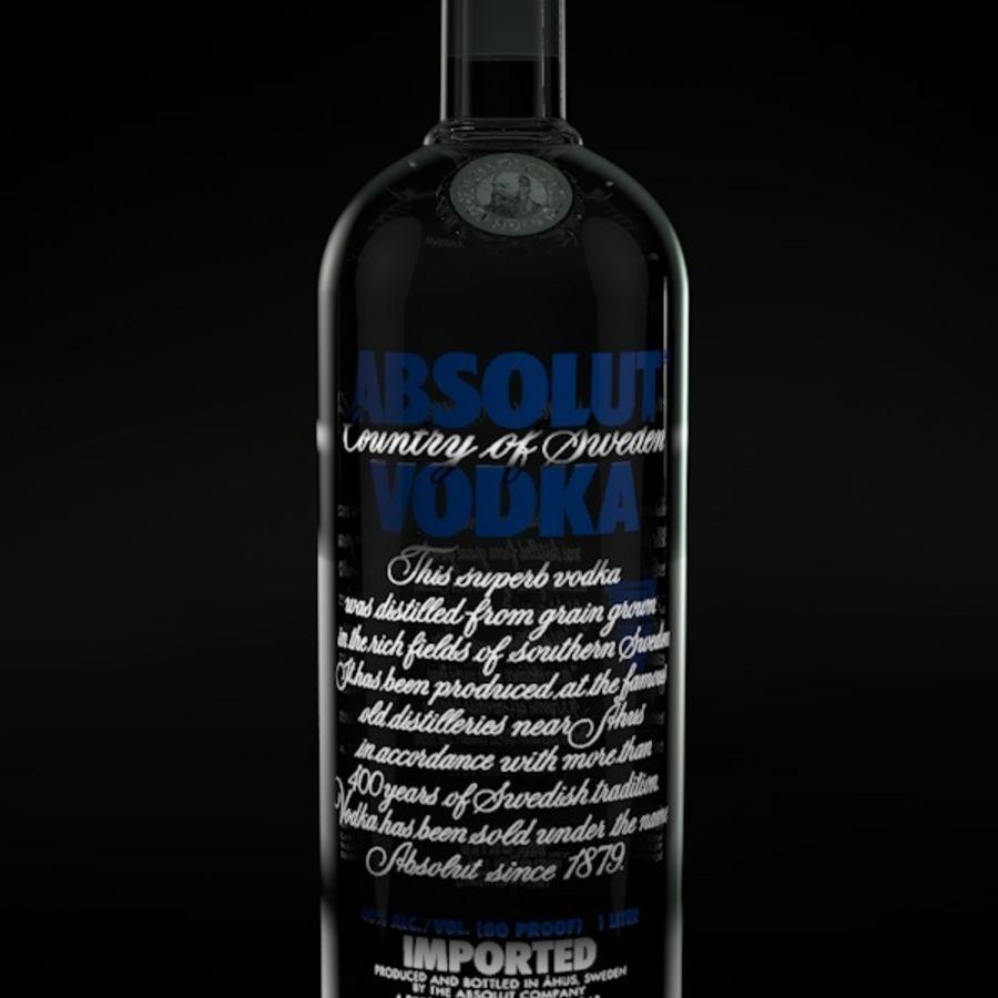 Absolut Vodka-flaska royalty-free 3d model - Preview no. 2