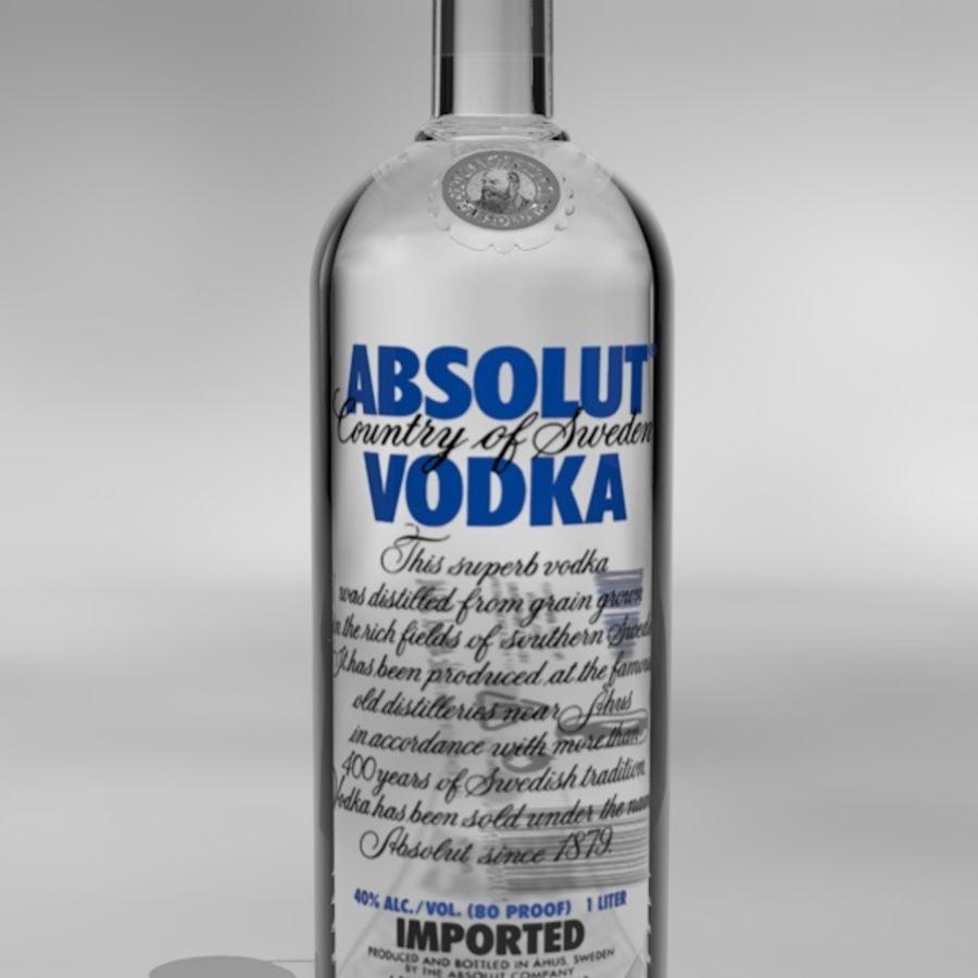 Absolut Vodka-flaska royalty-free 3d model - Preview no. 1