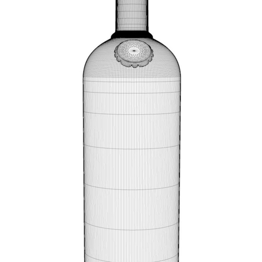 Absolut Vodka-flaska royalty-free 3d model - Preview no. 4