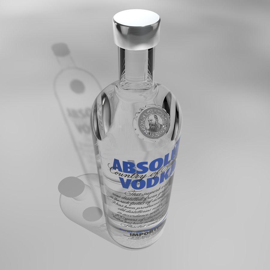 Absolut Vodka-flaska royalty-free 3d model - Preview no. 5