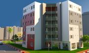 아파트 건물 3d model