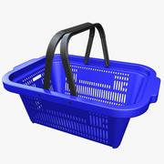 Cesto de compras Plástico 3d model
