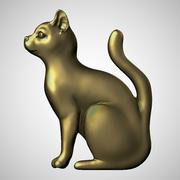 cat bas-relief 3d model