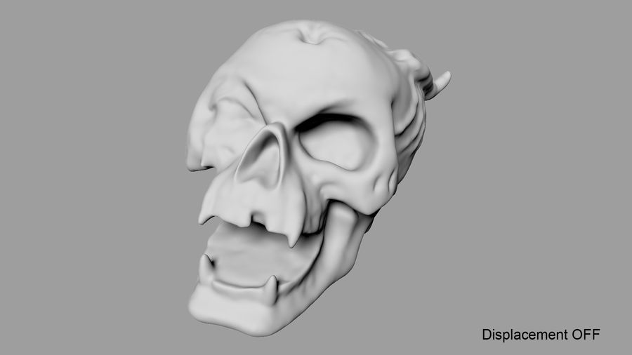 Skull Demon royalty-free 3d model - Preview no. 32