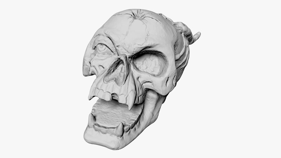 Skull Demon royalty-free 3d model - Preview no. 15
