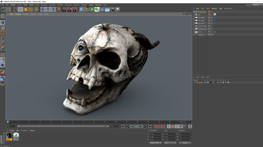 Skull Demon royalty-free 3d model - Preview no. 13