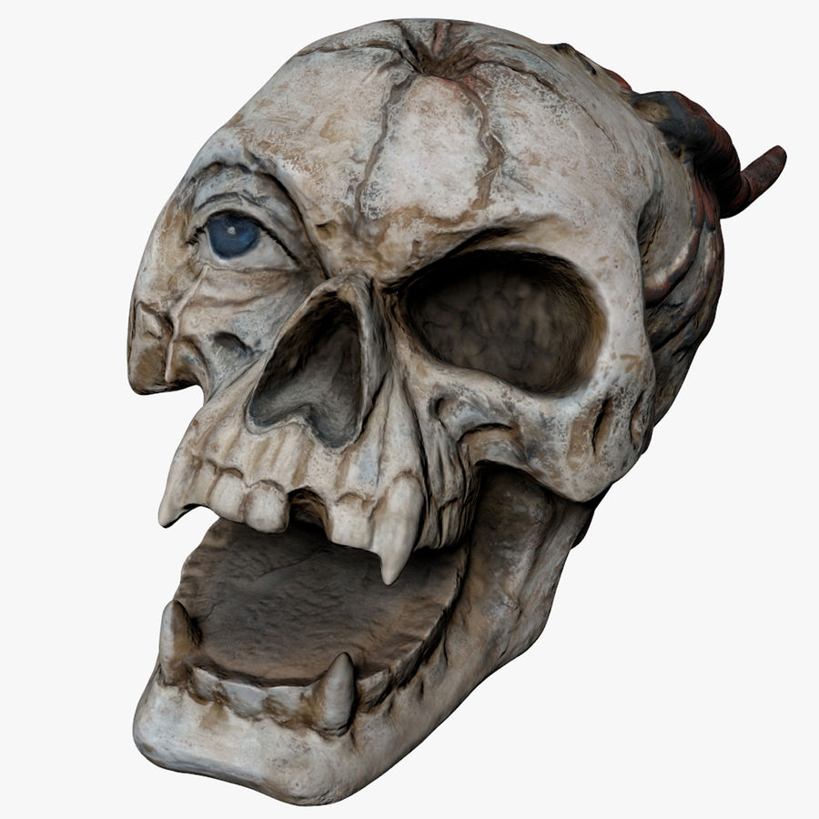 Skull Demon royalty-free 3d model - Preview no. 1