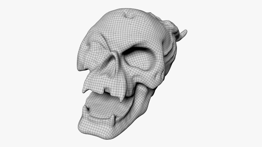 Skull Demon royalty-free 3d model - Preview no. 23