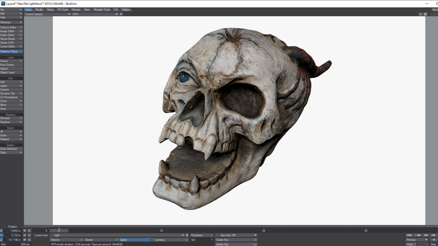 Skull Demon royalty-free 3d model - Preview no. 14
