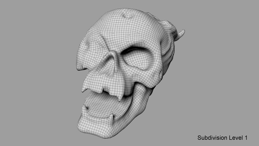 Skull Demon royalty-free 3d model - Preview no. 34