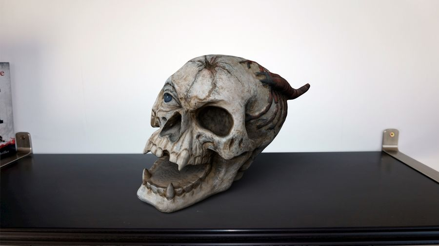 Skull Demon royalty-free 3d model - Preview no. 2