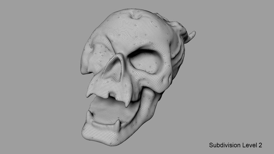 Skull Demon royalty-free 3d model - Preview no. 35