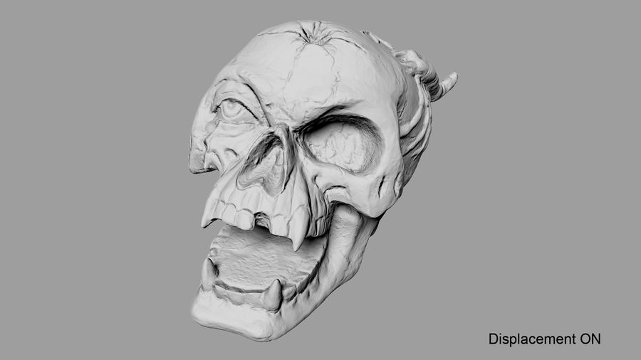 Skull Demon royalty-free 3d model - Preview no. 31