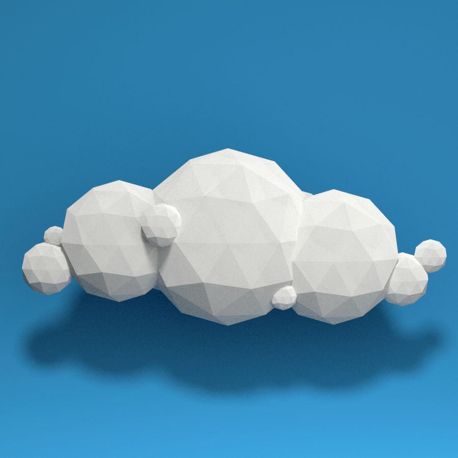 ensemble de nuages bas poly 48 royalty-free 3d model - Preview no. 9
