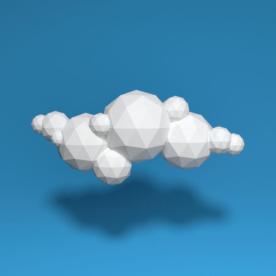 ensemble de nuages bas poly 48 royalty-free 3d model - Preview no. 12