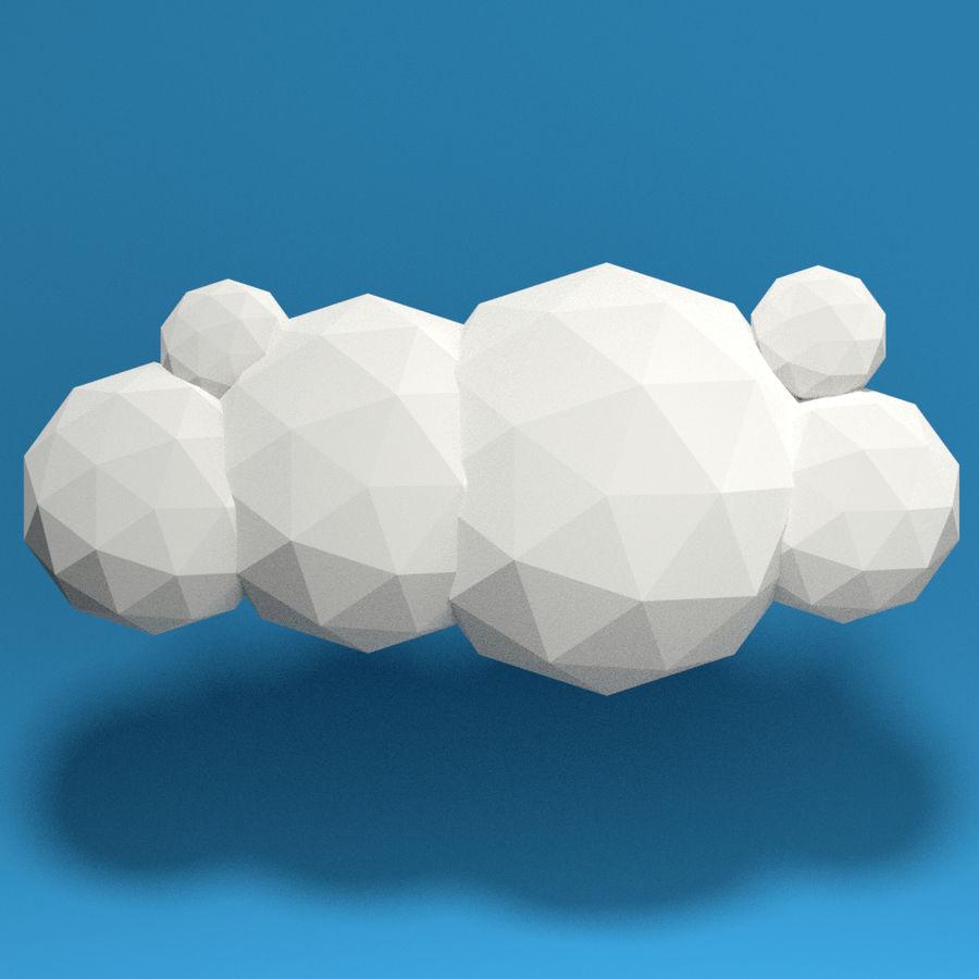 ensemble de nuages bas poly 48 royalty-free 3d model - Preview no. 4