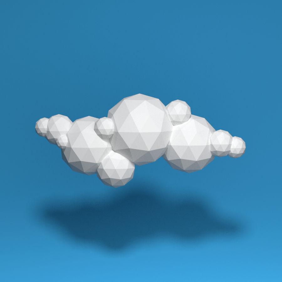 ensemble de nuages bas poly 48 royalty-free 3d model - Preview no. 11