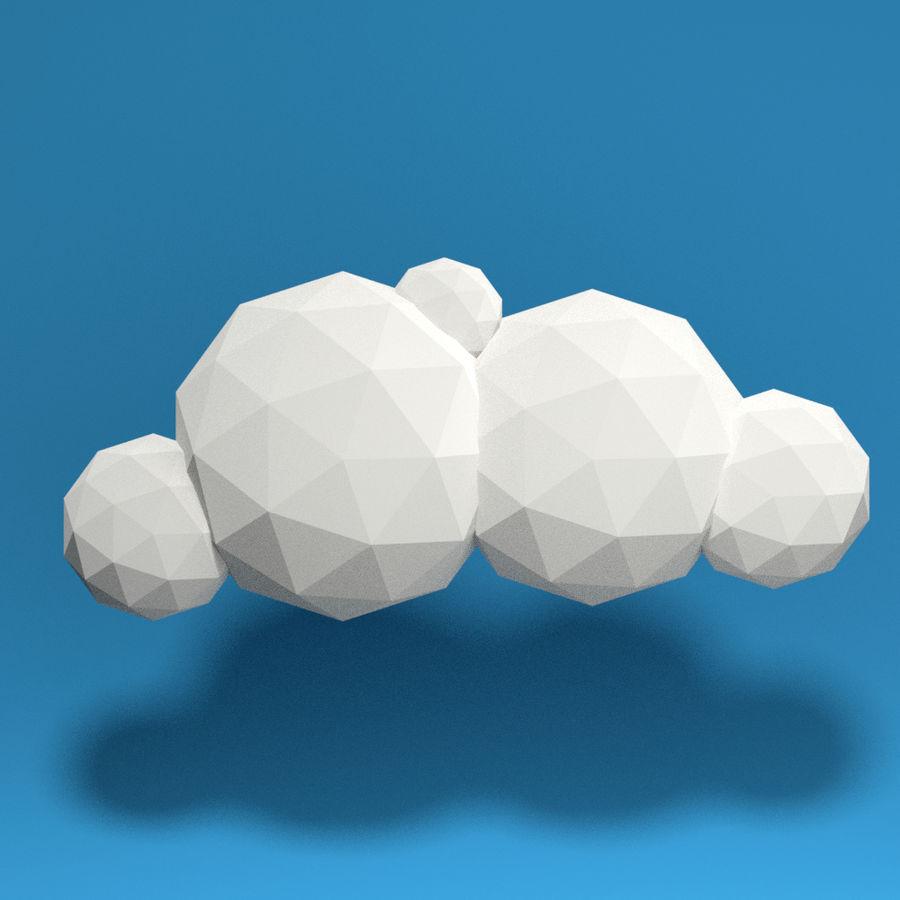 ensemble de nuages bas poly 48 royalty-free 3d model - Preview no. 3