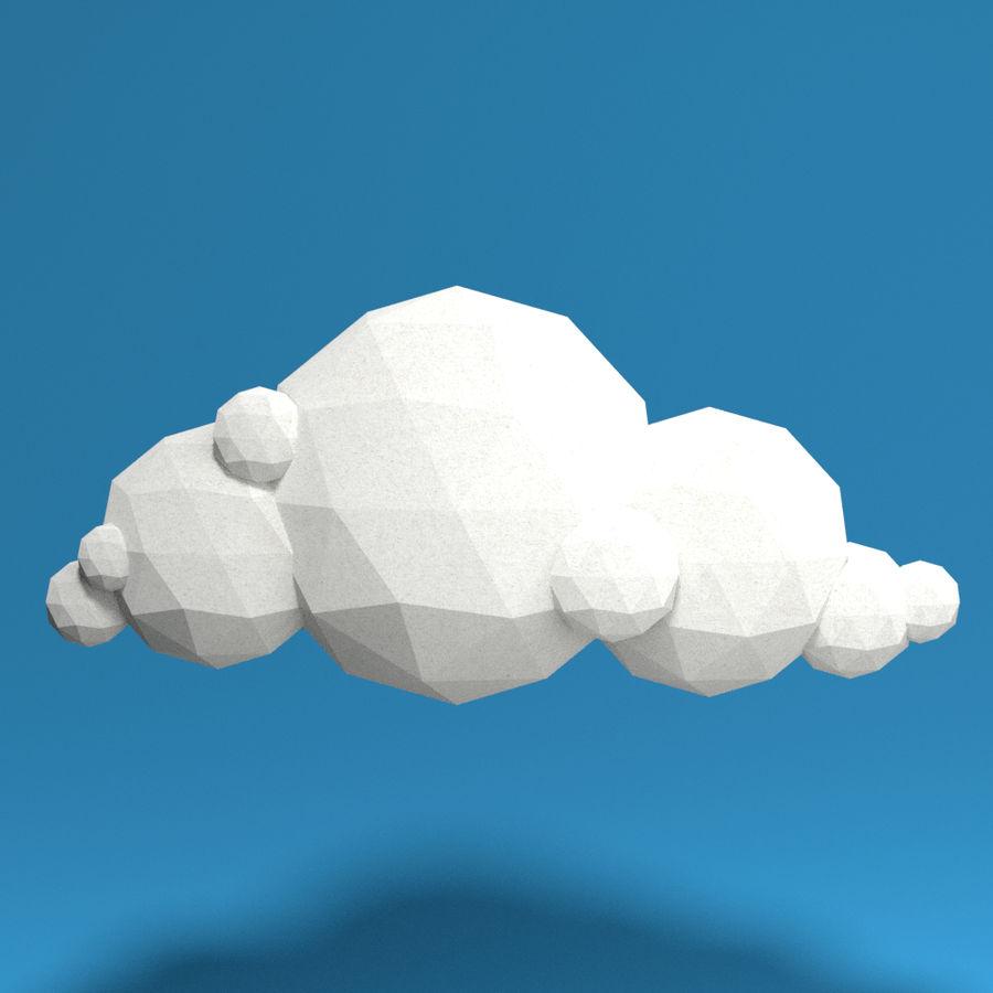 ensemble de nuages bas poly 48 royalty-free 3d model - Preview no. 7