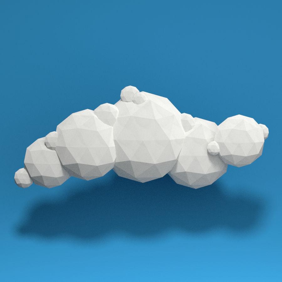 ensemble de nuages bas poly 48 royalty-free 3d model - Preview no. 8