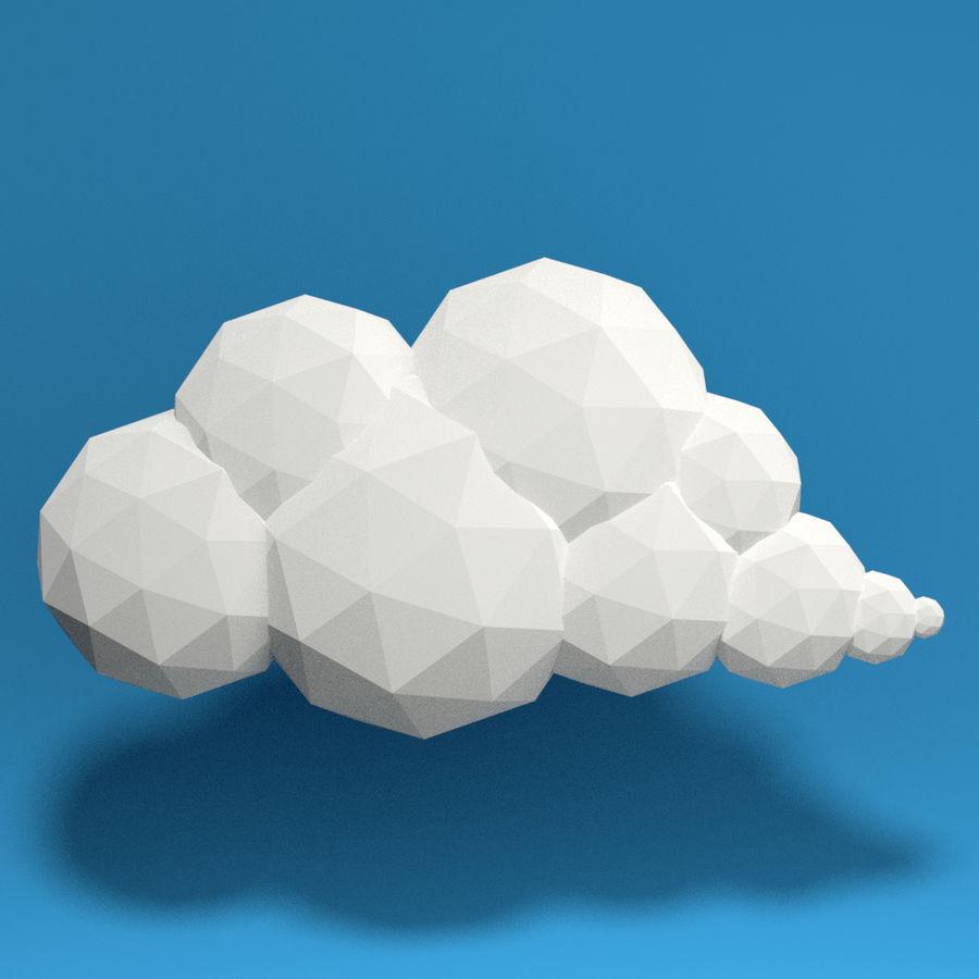 ensemble de nuages bas poly 48 royalty-free 3d model - Preview no. 6
