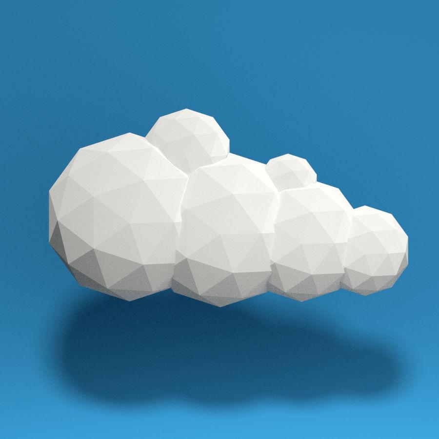 ensemble de nuages bas poly 48 royalty-free 3d model - Preview no. 5