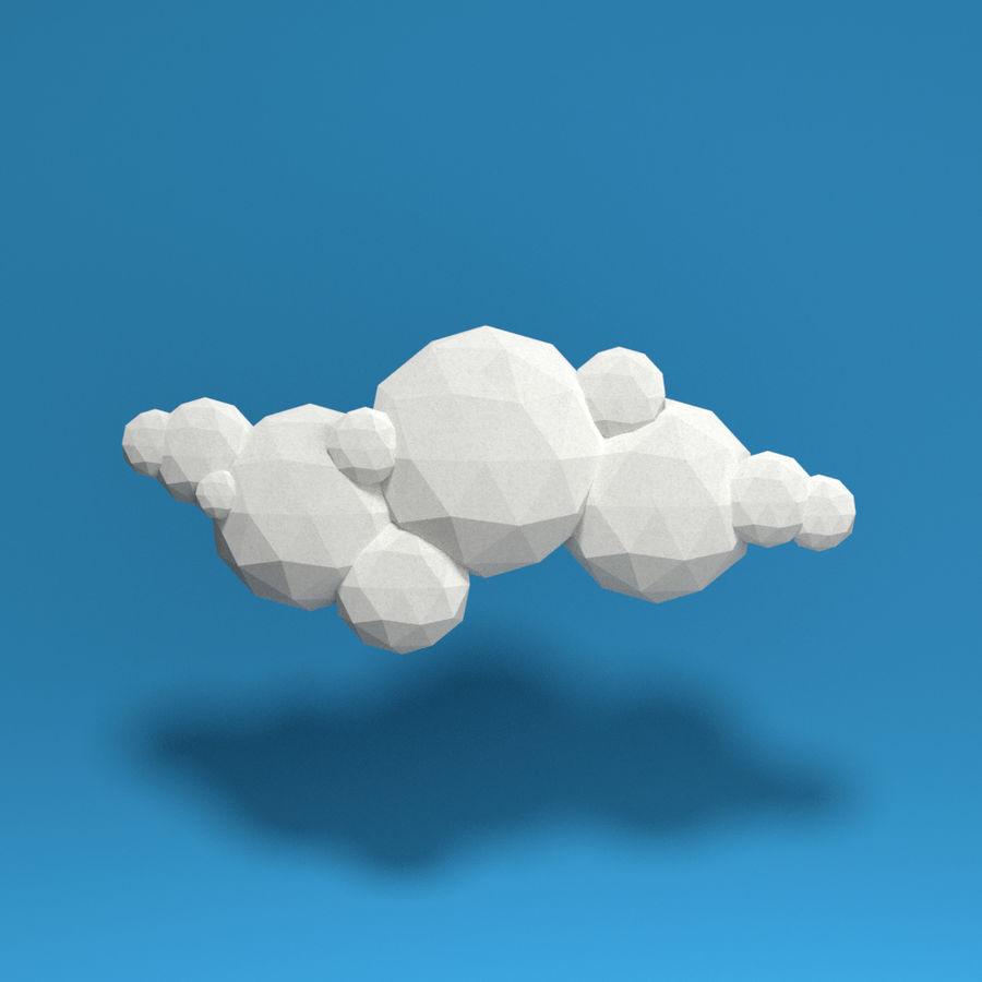 ensemble de nuages bas poly 48 royalty-free 3d model - Preview no. 10