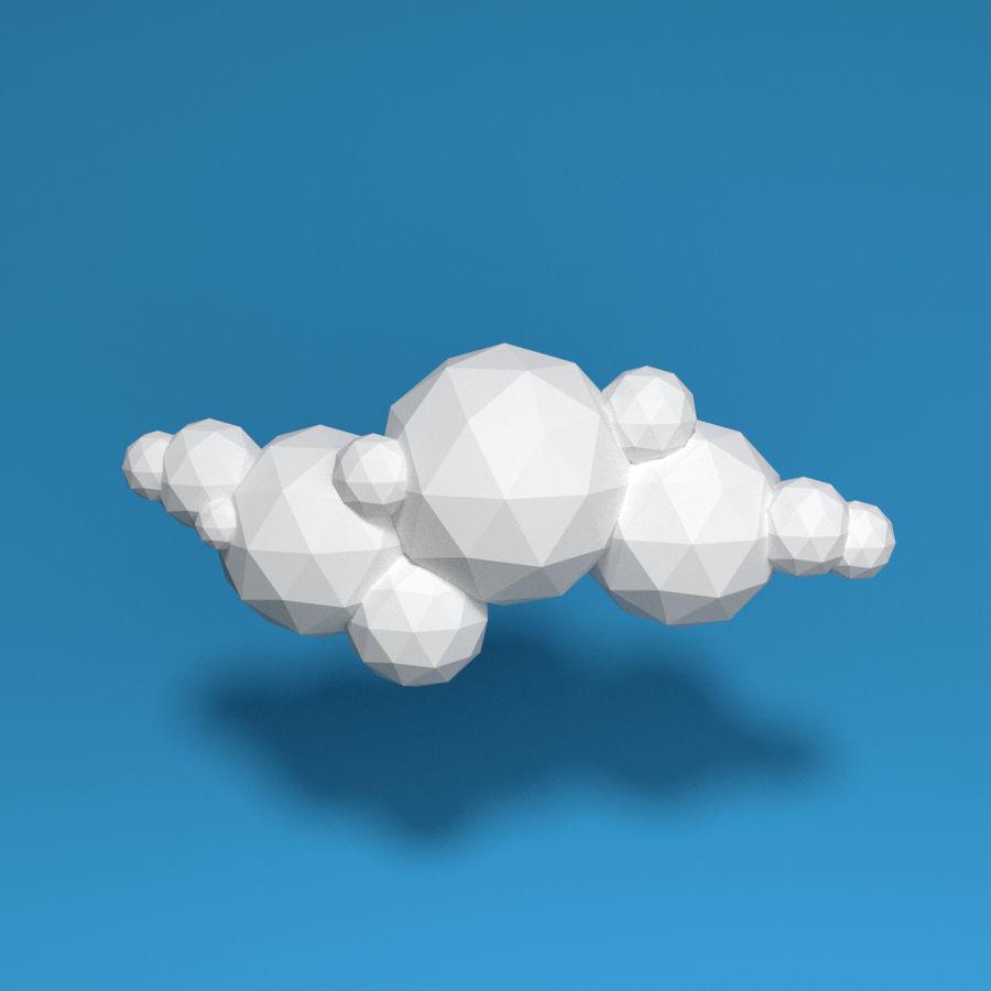 ensemble de nuages bas poly 48 royalty-free 3d model - Preview no. 2