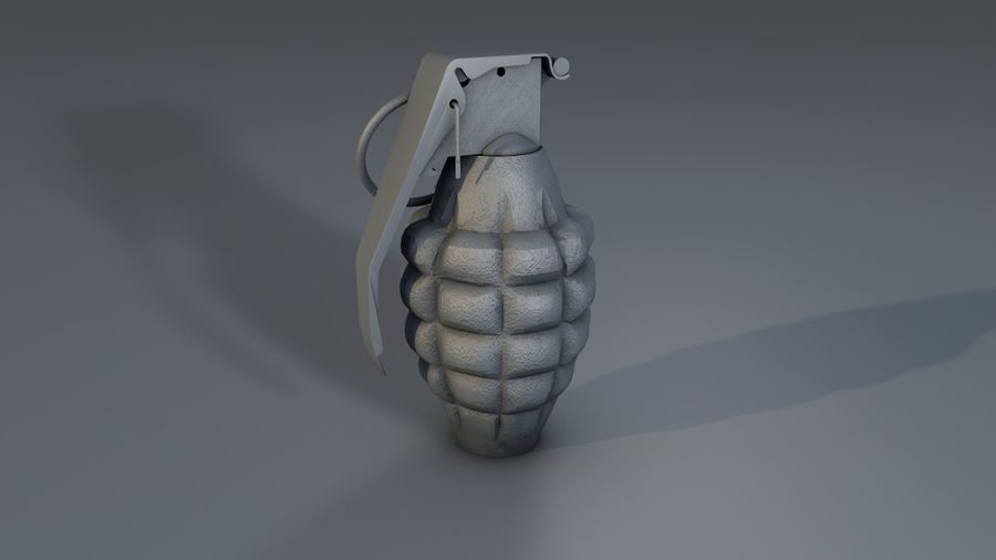 Grenade Explosive Bomb Weapon royalty-free 3d model - Preview no. 5