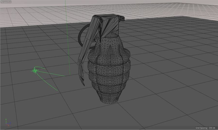Grenade Explosive Bomb Weapon royalty-free 3d model - Preview no. 6