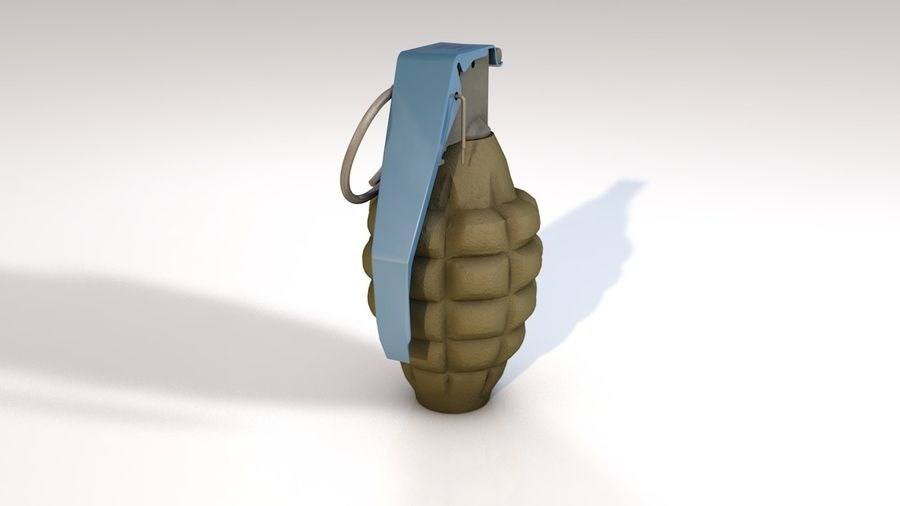 Grenade Explosive Bomb Weapon royalty-free 3d model - Preview no. 2