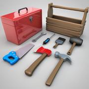 漫画ツールボックスとツール 3d model