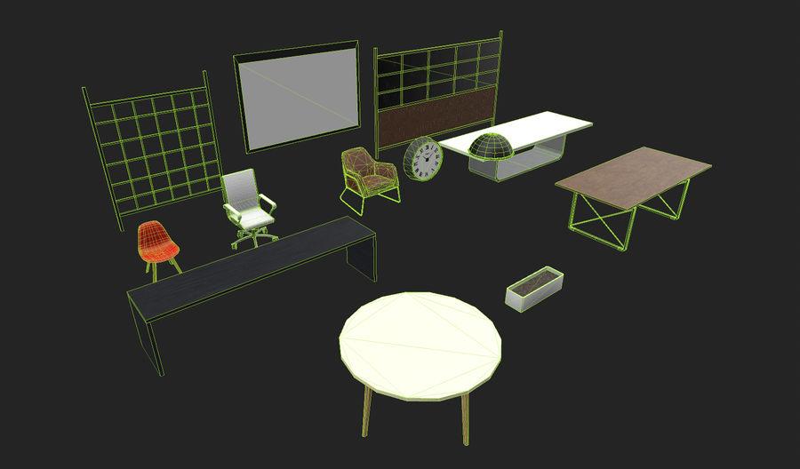 Интерьерная коллекция Pack Low-poly 3D модель royalty-free 3d model - Preview no. 4